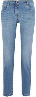 Brunello Cucinelli Distressed Low-Rise Straight-Leg Jeans
