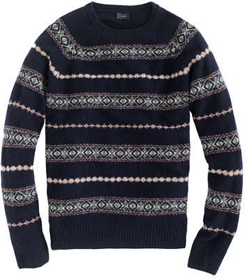 J.Crew Lambswool Glencoe Fair Isle sweater