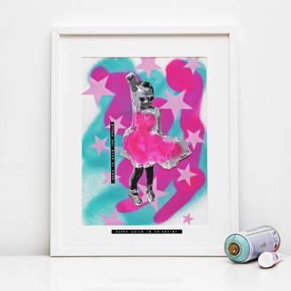 Hidden Image Direct Personalised Stencil Portrait With Abstract Background