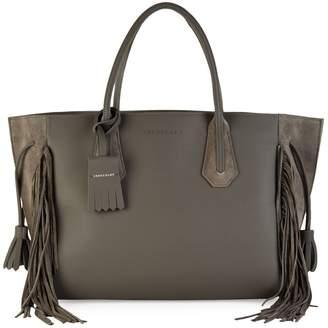 Longchamp Fringe Leather & Suede Tote