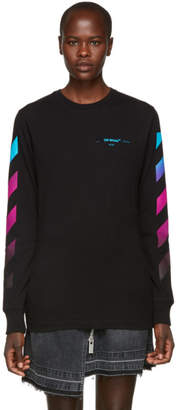 Off-White Black Gradient Long Sleeve T-Shirt
