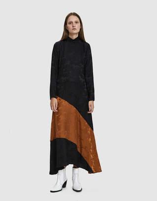Ganni Silk Jacquard Dress