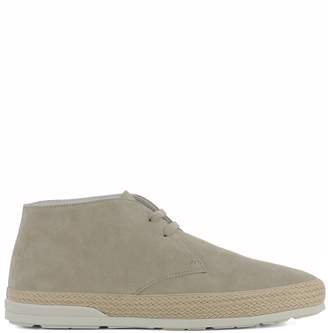 Hogan Beige Suede Ankle Boots