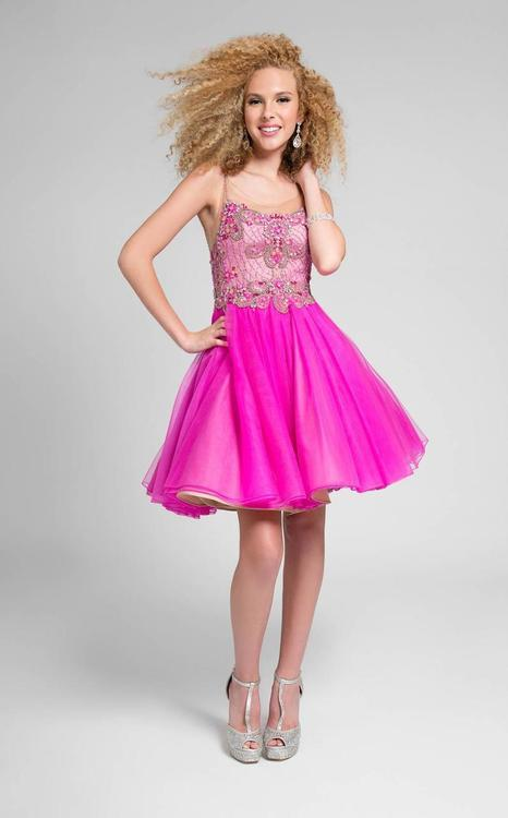 Terani Prom - Stunning Jewelled Square Poleyster Tea Length Dress 1711P2691