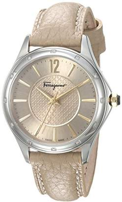 Salvatore Ferragamo Women's 'Time' Swiss Quartz Stainless Steel and Leather Casual Watch
