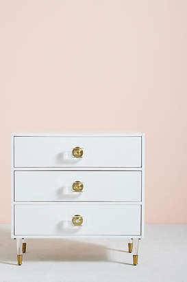 Anthropologie Tracey Boyd Lacquered Regency Three-Drawer Dresser
