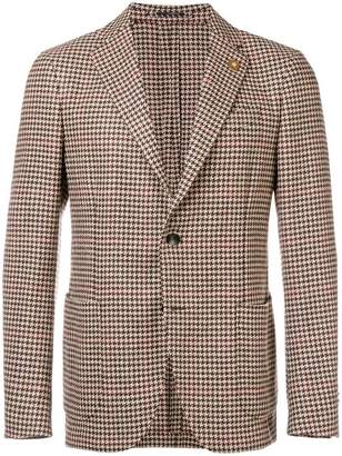 Lardini houndstooth check blazer
