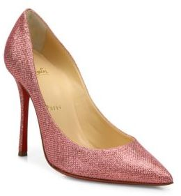 Christian Louboutin  Christian Louboutin Decoltish 100 Glitter Point Toe Pumps