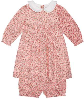 Rachel Riley Floral Smock Dress with Bloomers