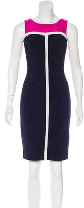 Lauren Ralph Lauren Colorblock Knee-Length Dress