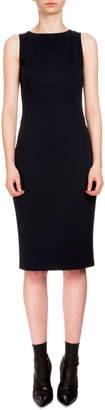Altuzarra Sleeveless Techno Jersey Sheath Dress, Navy