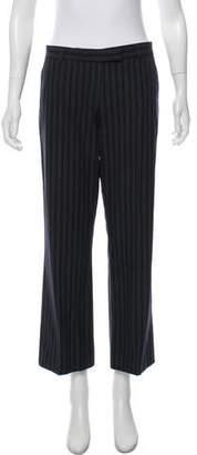 Joseph Pinstripe Wide-Leg Pants