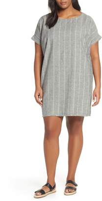 Eileen Fisher Stripe Hemp & Organic Cotton Shift Dress
