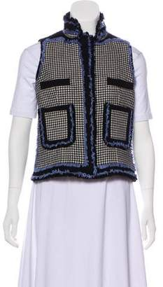 Balenciaga Wool Houndstooth Vest