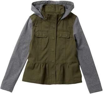 Coffee Shop Cotton Twill Jacket With Peplum Jacket (Big Girls)