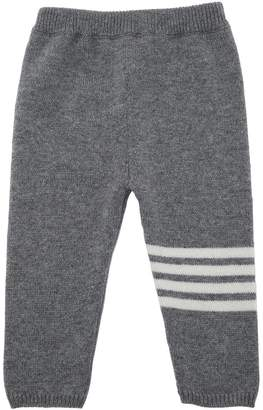 Thom Browne Cashmere Sweatpants W/ Intarsia Stripes