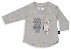 Huxbaby Baby Girl's& Little Girl's Long Sleeve Robo Friend Top