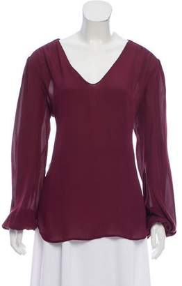 L'Agence Long Sleeve Silk Top