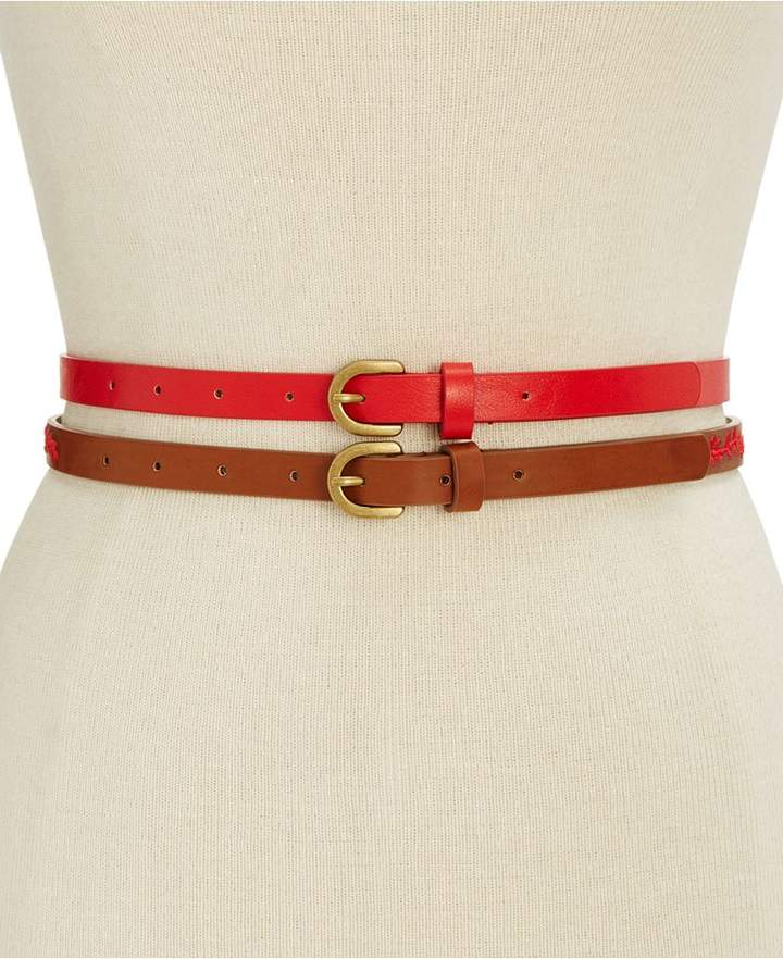 INC International Concepts Embroidered 2-for-1 Belt, Created for Macy's