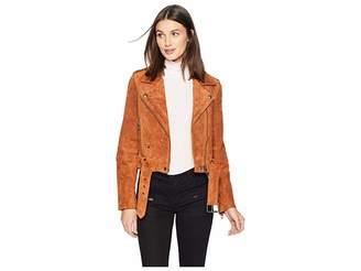 Blank NYC Real Suede Moto Jacket in El Dorado