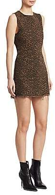 Alexander Wang Women's Leopard Print Mini Dress