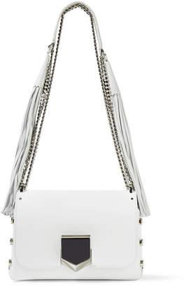 Lockett Petite Tasseled Leather Shoulder Bag - White