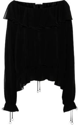 Altuzarra Flounced silk blouse
