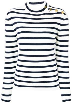 Paco Rabanne striped button detail sweater