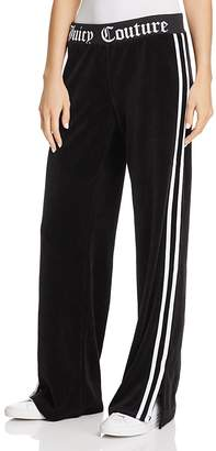Juicy Couture Black Label Logo Flare Velour Pants - 100% Exclusive