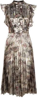Markus Lupfer Poppy Pleated Midi Dress