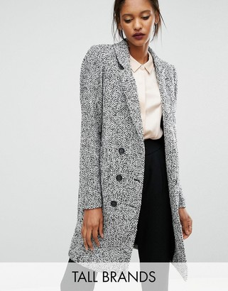 Y.A.S Tall Dalay Textured Double Breasted Coat $151 thestylecure.com