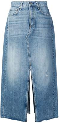 Rag & Bone mid-length denim skirt