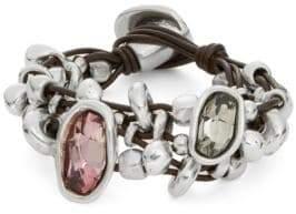 Uno de 50 Chica Mermelada Rhinestone Toggle Bracelet