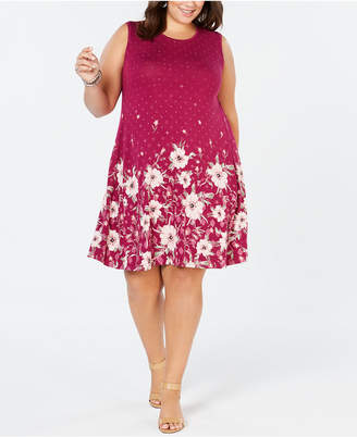 Style&Co. Style & Co Plus Size Floral-Print Sleeveless Dress