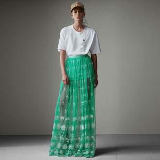 Burberry Floor-length Embroidered Tulle Skirt