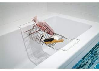 HURRISE Stainless Steel Bathtub Caddy Tray Tub Soap Red Wine Rack Holder