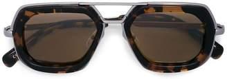 Linda Farrow hexagonal sunglasses