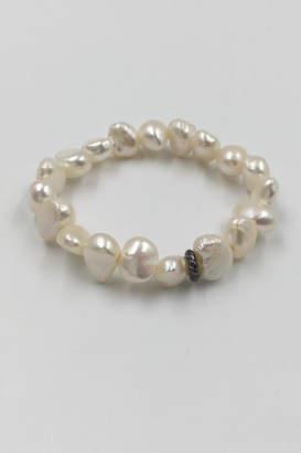 Private Label Sapphire Sky Pearl Bead Bracelet