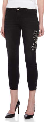 Bebe Orbit Embriodered Beaded Detail Skinny Jeans