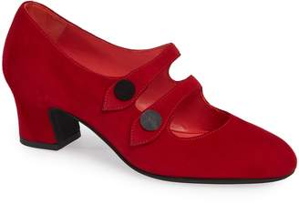 Pas De Rouge Alfa Double Strap Mary Jane Pump