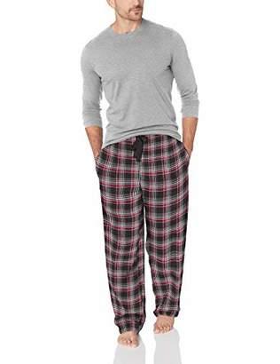 Jockey Men's Flannel Sleep Pant and Jersey Top Pajama Set