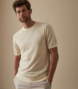 Reiss Our last order date for Christmas has now passed WILTSHIRE MERINO CREW NECK TOP Ecru