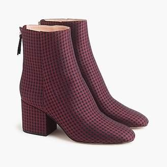 J.Crew Sadie ankle boots in silk tie print