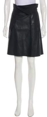 Victoria Beckham Victoria Leather Knee-Length Skirt