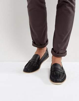KG by Kurt Geiger KG Kurt Geiger Woven Loafers In Black Leather