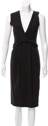 Prada V-Neck Midi Dress