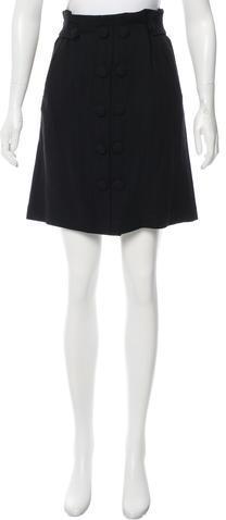 3.1 Phillip Lim3.1 Phillip Lim Button-Accented Knee-Length Skirt