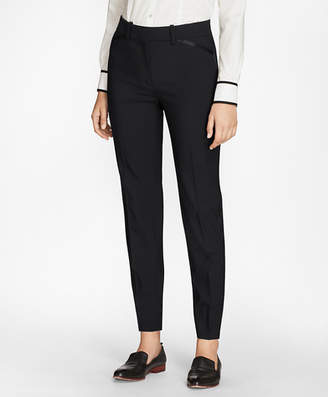 Brooks Brothers Petite Slim-Fit Stretch-Wool Crepe Tuxedo Pants