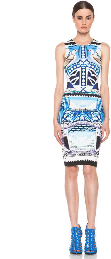 Mary Katrantzou Jersey Sleeveless Dress in Starsailor