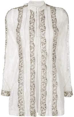 Etro embellished lace tunic blouse